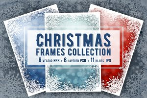 Vector Christmas Frames Collection