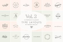 Type Layouts Vol. 2 Text Based Logos