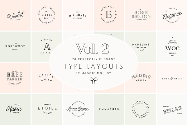 Type Layouts Vol. 2 Text Based Logo…