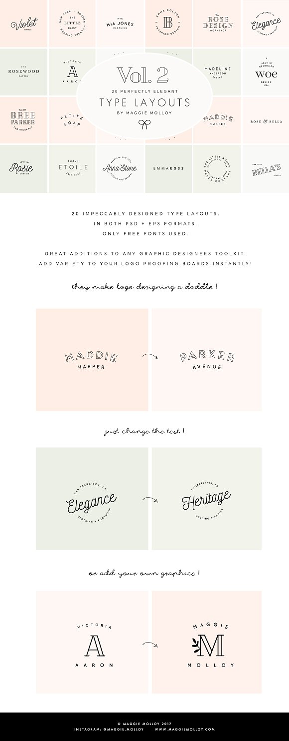 Type Layouts Vol  2 Text Based Logos