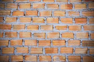 Texture red brick wall background