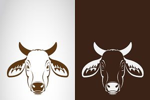 Vector of cow head design. Animals