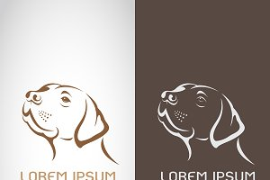 Vector of dog head design. Animals.
