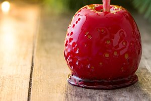 Candy Christmas apple