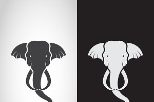 Vector of elephant head design.