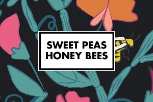 Sweet Peas and Honey Bees Patterns