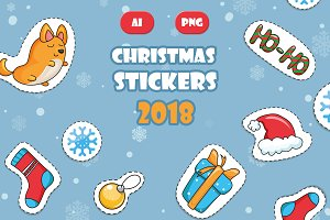 Christmas Cartoon stickers 2018