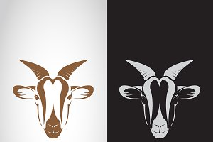 Vector of goat head design. Animals.