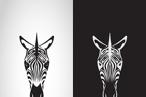 Vector of zebra head design.Animals.