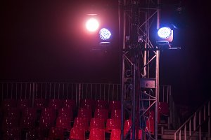 Theater lights in the circus