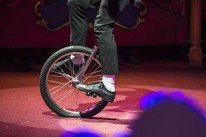 Circus artist bike