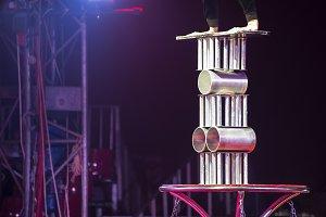 Circus  equilibrist artist