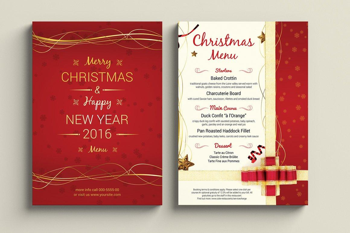 A5 Christmas Menu ~ Flyer Templates ~ Creative Market