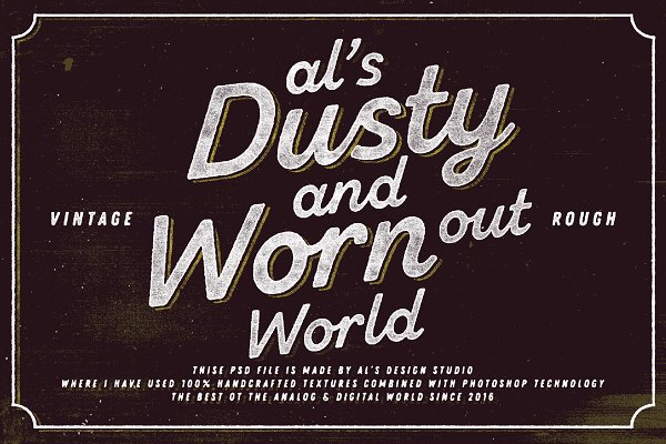 Photoshop Layer Styles: AL's Design Studio - AL's Dusty Print  Studio