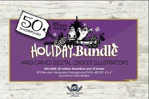Holiday Bundle Linocuts