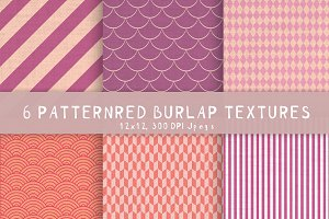 6 Burlap patterned textures