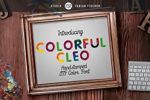 Colorful Cleo - Color Font