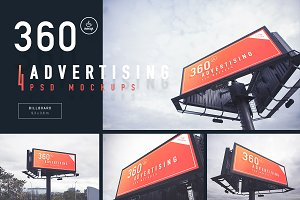Billboard - 360 Advertising Mockups