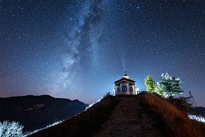 Milky Way Over Chapel