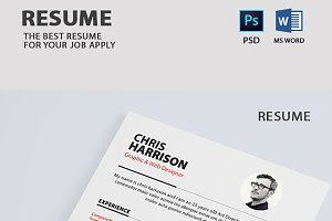 Clean Resume With Business Card