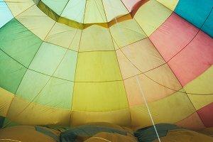 hot ballon air, interior detail duri
