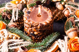 Christmas aromatic burning candle