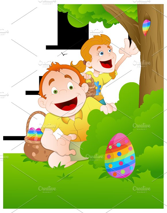 Easter Background Illustrations in Illustrations
