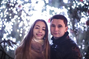 Couple and The Christmas tree