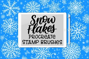 Snowflake Procreate Stamp Brushes