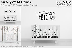 Nursery Crib Wall & Frames Pack