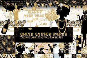 Great Gatsby, Glitter Gold, 1920