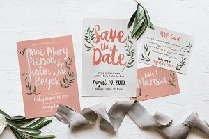 Rustic Pink & Green Wedding Suite