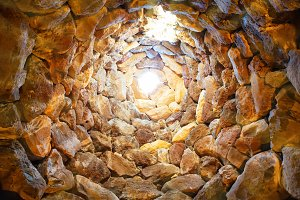 Inside the ancient tower