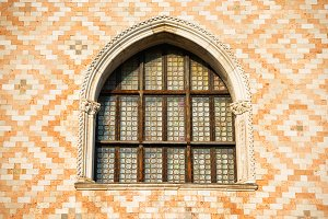 Old window and ornament wall