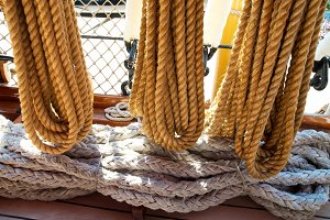 Yacht ropes and tackles