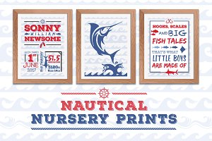Nautical Nursery A4 Posters