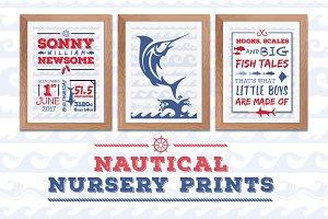Nautical Nursery A4 Posters