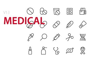 60 Medical UI icons