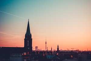 Berlin Sunset Photography.