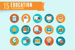 Education - flat icons