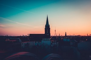 Berlin Rooftop View. Photography.