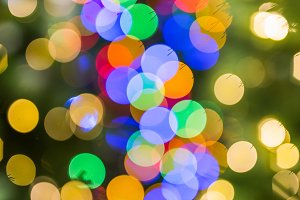 Multicolored Christmas light bokeh