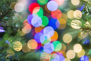 Sparkling Christmas light bokeh