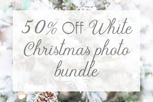 White Christmas tree photo BUNDLE