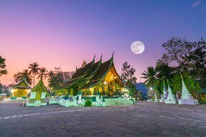 Wat Xieng Thong, the most popular te