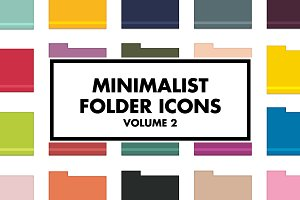 Minimalist Folder Icons Volume 2