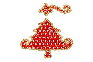 Christmas fun tree greeting card