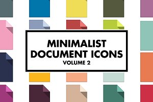 Minimalist Document Icons Volume 2
