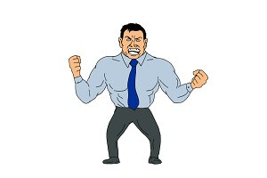 Angry Businessman Cartoon