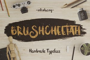 Bruscheetah Brush Font